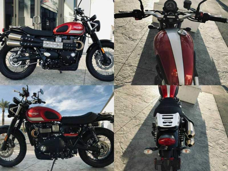 2018 Triumph Street Scrambler Korosi Red/Frozen Silver -- used for sale craigslist