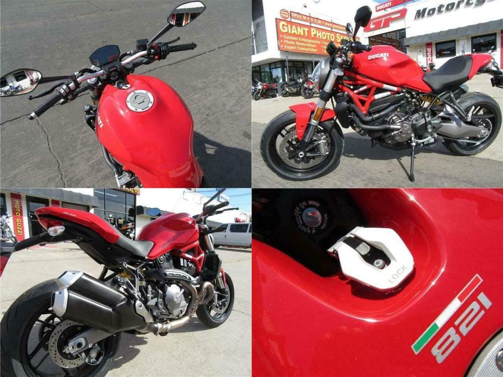 2020 Ducati Monster 821 Red Red used for sale