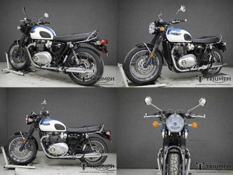 2020 Triumph Bonneville FUSION WHITE/AEGEAN BLUE used for sale craigslist