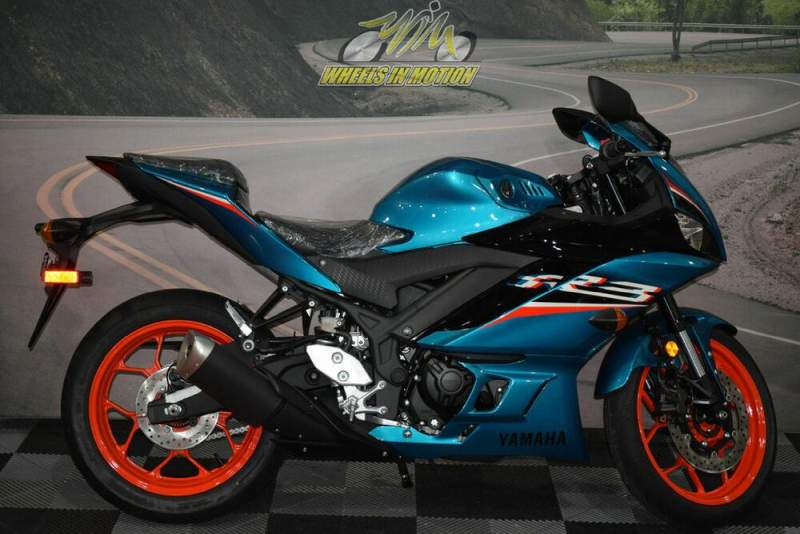 2021 Yamaha YZF-R3 Teal new for sale