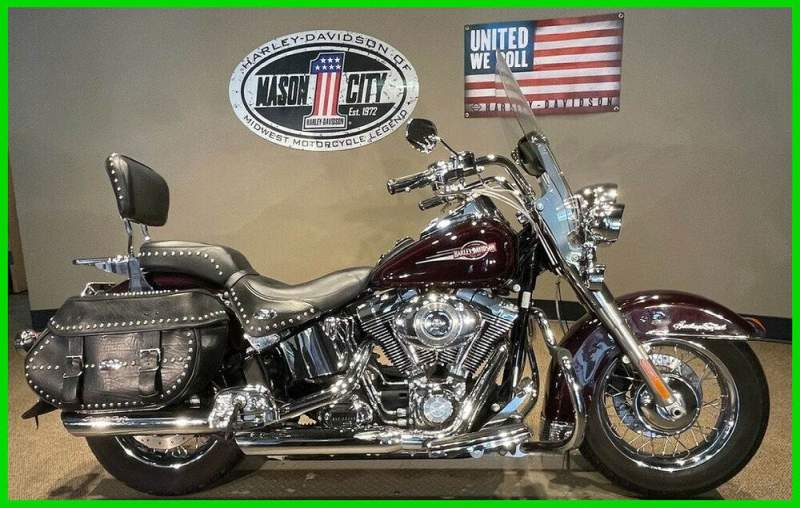 2007 Harley-Davidson Softail Heritage Softail® Classic Black Cherry used for sale usa
