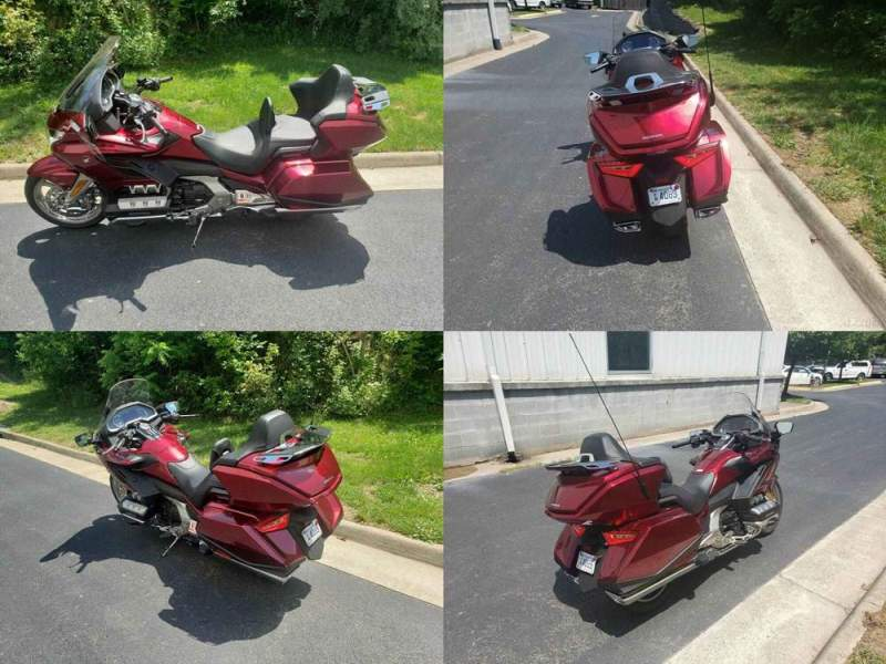2018 Honda GOLD WING TOUR AIR BAG AUTOMATIC DCT RED/BLACK used for sale
