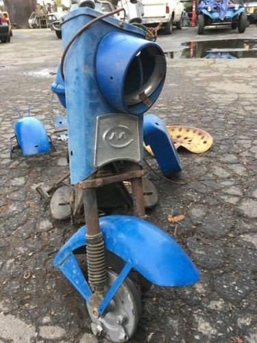 1960 Cushman Standard cast eagle Blue for sale