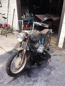 1964 Yamaha YDS3 Blue/Chrome/Rusty Patina for sale craigslist