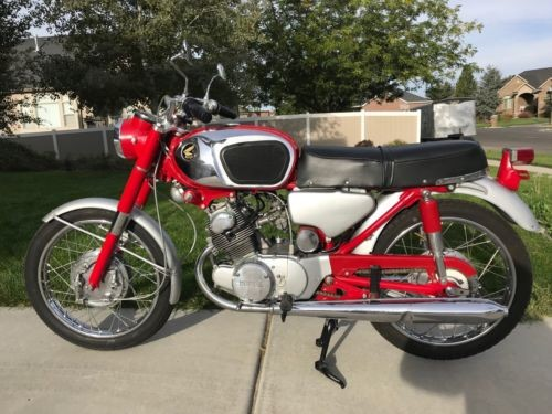 1965 Honda CB Red for sale craigslist