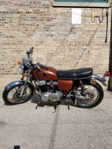 1972 Honda CB Brown, black and chrome for sale