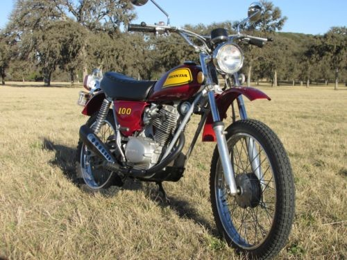 1973 Honda SL100 Candy Red for sale