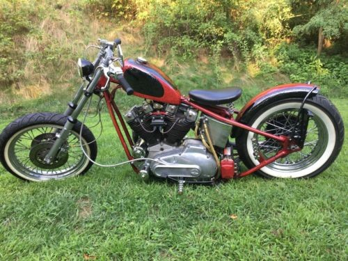 1974 Harley-Davidson Ironhead Sportster Red / Black metalflake for sale craigslist