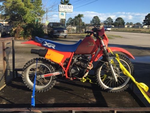 1984 Honda XR XR250R Red for sale craigslist