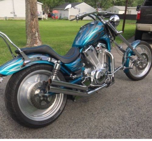 1995 Custom Built Motorcycles Chopper Teal for sale