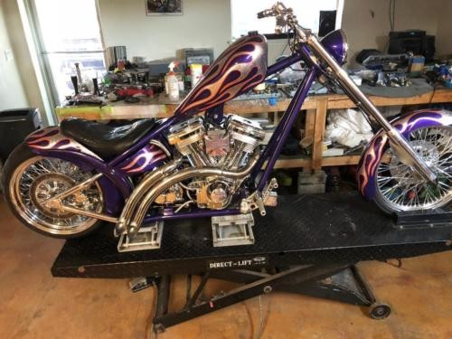 1999 Custom Built Motorcycles Chopper Purple craigslist