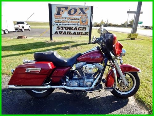 2006 Harley-Davidson Touring FLHT Electra Glide Standard Fire Red Pearl for sale