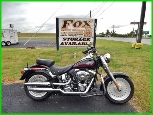 2007 Harley-Davidson Softail FLSTF Fat Boy® Vivid Black / Burgundy Accents for sale craigslist