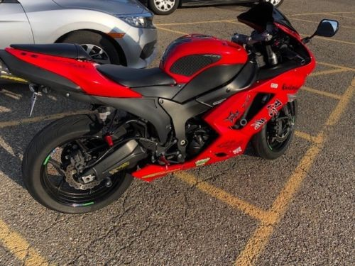 2007 Kawasaki ZX6R Red for sale