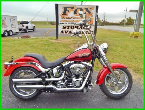 2008 Harley-Davidson Softail FLSTF Fat Boy® Candy Red Sunglo / Black Accents for sale craigslist