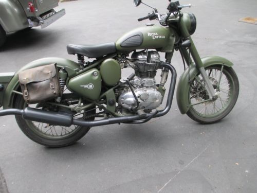 2011 Royal Enfield c-5bullet military olive drap for sale