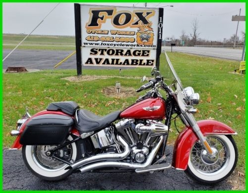 2012 Harley-Davidson Softail FLSTN Deluxe Ember Red Sunglo / White Pinstripe for sale