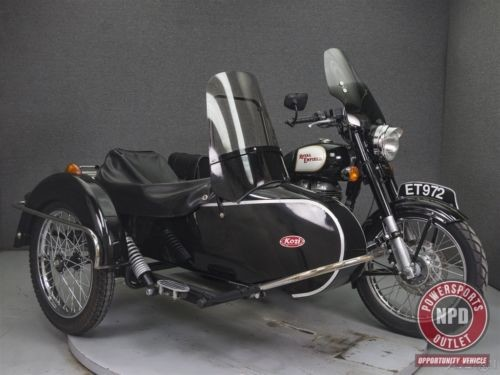2012 Royal Enfield C5 BULLET 500 W/SIDECAR Black for sale