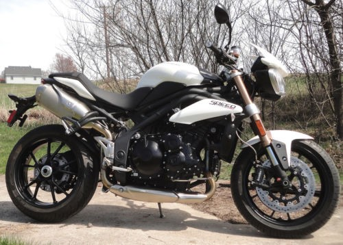 2012 Triumph Speed Triple Crystal White craigslist