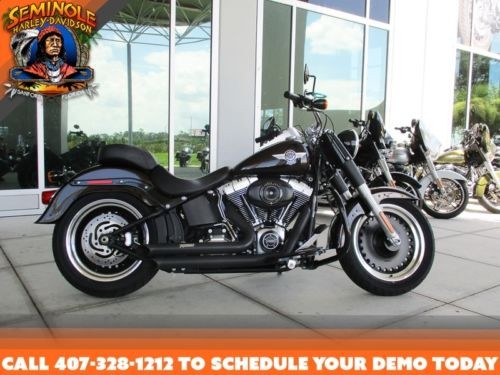 2014 Harley-Davidson FLSTFB - Softail® Fat Boy® Lo -- Black for sale