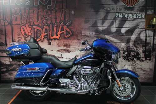 2014 Harley-Davidson Touring Custom Blue with factory unique penstriping photo