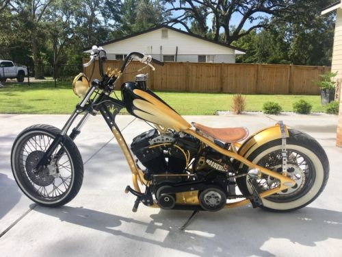 2017 Custom Built Motorcycles Chopper Yellow for sale