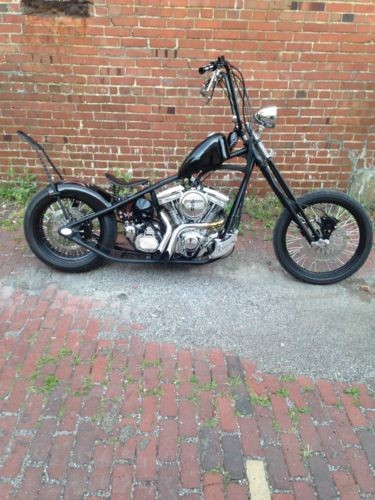 2018 Custom Built Motorcycles Chopper Black photo