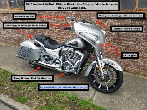 2018 Indian Chieftain Elite -- Black for sale craigslist