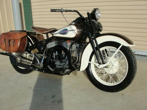 1942 Harley-Davidson WLA brown and white for sale