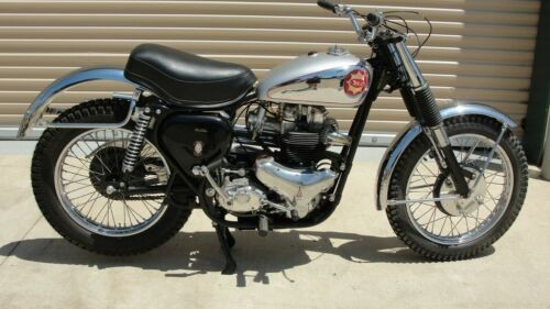 1963 BSA Spitfire Scrambler chrome and silver for sale