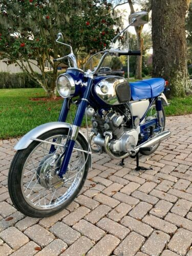 1965 Honda CB Blue and Silver for sale