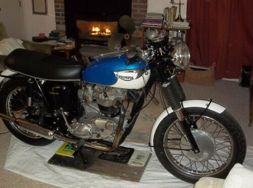 1966 Triumph Trophy Pacific Blue/Alaska White factory colors craigslist