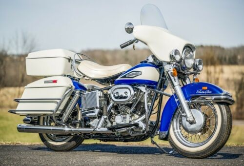 1970 Harley-Davidson FL Shovelhead Sparkling Blue and Birch White for sale craigslist