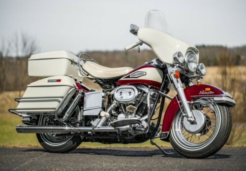 1970 Harley-Davidson FL Shovelhead Sparkling Burgundy and Birch White for sale