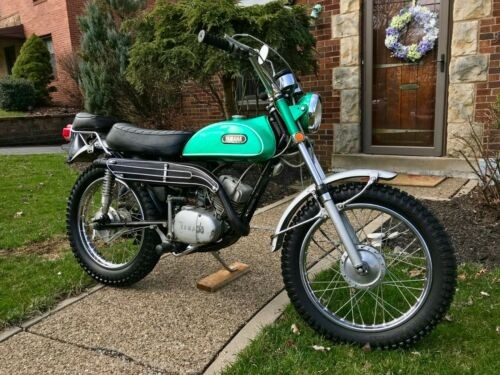 1970 Yamaha CT1 175cc Dual-Sport Survivor Clear Title Matching Nu Green for sale