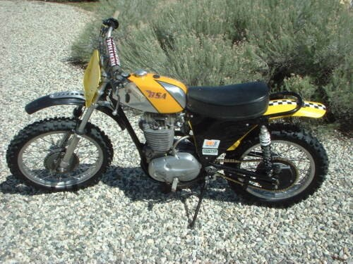 1973 BSA B50 MX Yellow for sale
