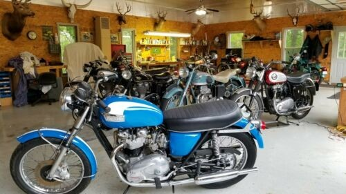 1973 Triumph Bonneville Blue/White for sale
