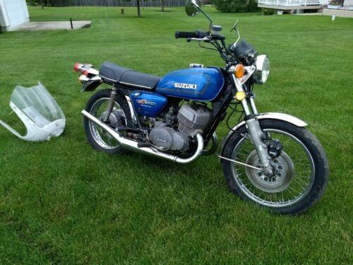 1975 Suzuki Titan- gt 500 Blue for sale