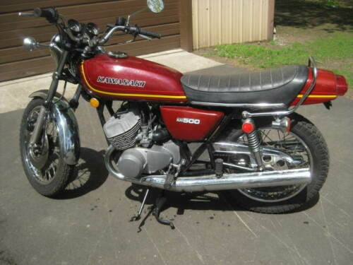 1976 Kawasaki Mach III H1 - KH500-A8 Burgundy for sale