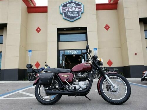 1979 Triumph Bonneville Burgundy for sale craigslist