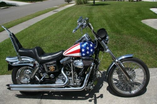 1995 Harley-Davidson FXDWG red white blue chrome for sale