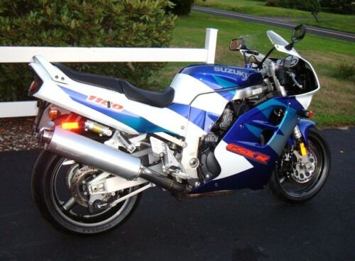 1997 Suzuki GSX-R Blue with white for sale