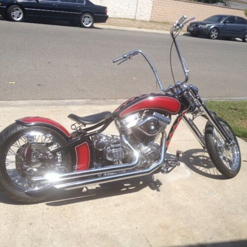 2000 Custom Built Motorcycles Chopper RED, BLACK, WHITE for sale craigslist