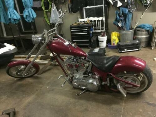 2002 Custom Built Motorcycles Chopper Burgundy for sale craigslist