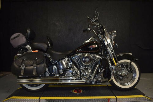 2002 Harley-Davidson FLSTS - Heritage Springer Softail VIVID BLACK W/STRIPE for sale craigslist