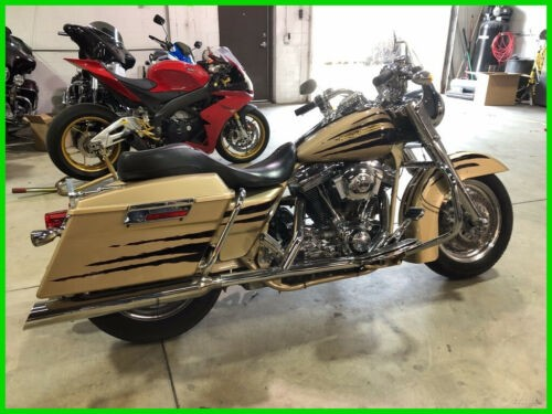 2003 Harley-Davidson Touring Road King CVO 100th Anniversary Edition Centennial Gold and Vivid Black for sale craigslist