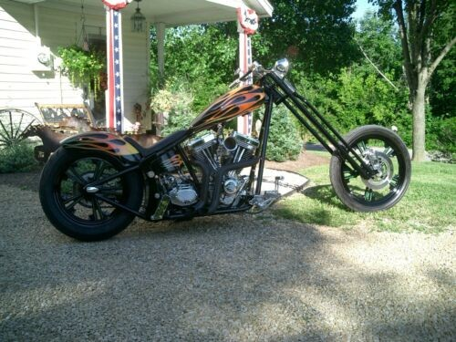 2004 Custom Built Motorcycles Chopper Black w/Hot Rod Flames for sale craigslist