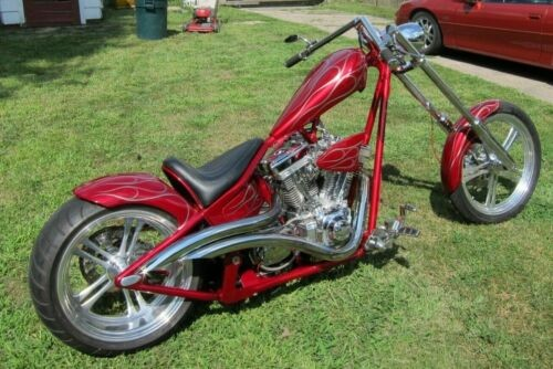 2004 Custom Built Motorcycles Chopper CANDY APPLE for sale craigslist