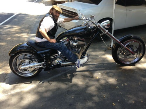 2004 Custom Built Motorcycles Pro Street Black with Ghost Flames for sale