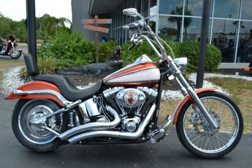 2004 Harley-Davidson Softail Orange and Silver Custom for sale